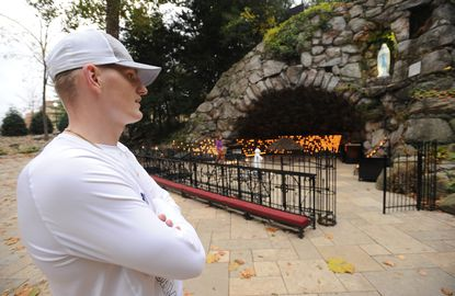 Mike Heuerman disappeared into the 'fog' of opioid addiction after football injuries at Notre Dame. He emerged full of gratitude and advice.
